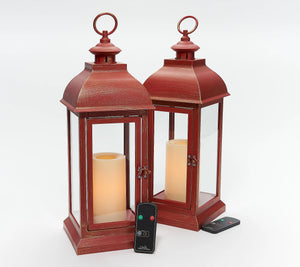 "Candle Impressions Indoor/Outdoor Set of (2) 15"" Lanterns"