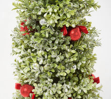 "36"" Glistening Boxwood Topiary with Berries & Ornaments by Valerie Ivory, - Midtown Bargains"