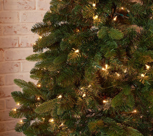 Bethlehem Lights 9' Slim Green Downswept Decorator Tree Multi, - Midtown Bargains