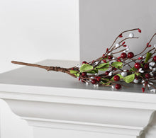 Red and White Pip Berry 5' Garland by Valerie - Midtown Bargains