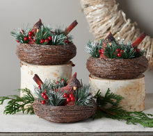 Set of 3 Cardinals in Nests w/Pine Sprigs & Berries by Valerie - Midtown Bargains