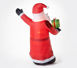 Kringle Express Inflatable Mixed Media Santa - Midtown Bargains