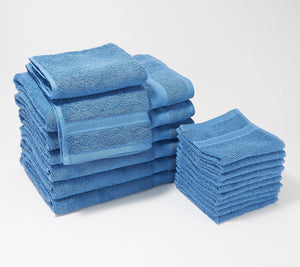 Home Reflections Everyday 18-Piece Towel Set Berry, - Midtown Bargains