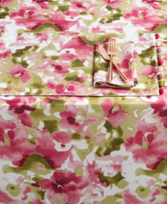 "Clearance: 75% Off - Homewear Cressona 60"" x 84"" Tablecloth, Pink - Midtown Bargains"