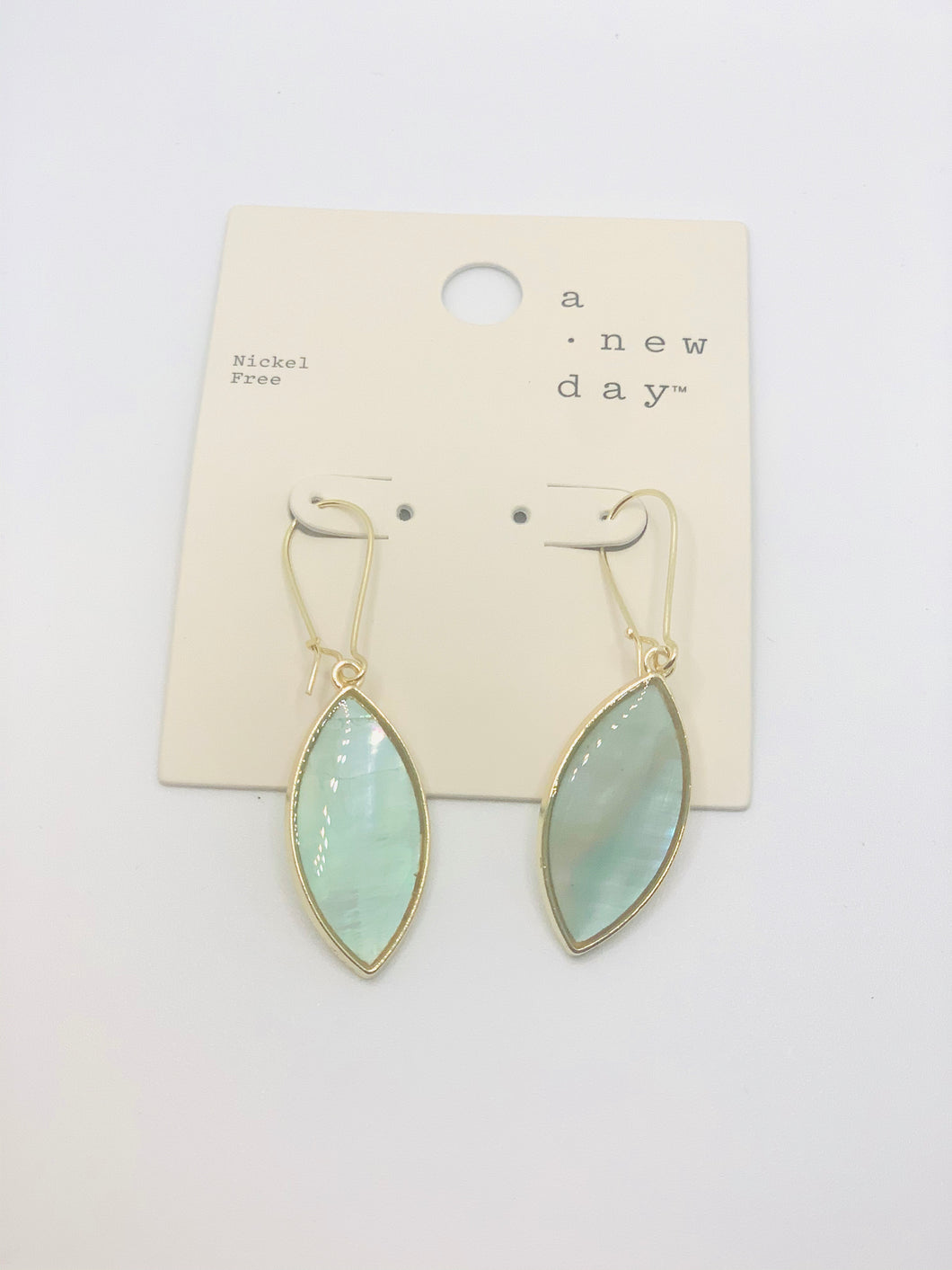 Oval Pearlescent Earrings