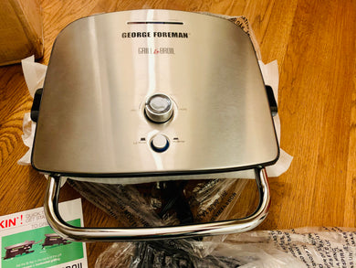 George Foreman 5 Serving 7-in-1 Grill & Broil w/ Nonstick Plates *Scratches - Midtown Bargains