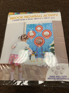 Indoor Snowball Activity Toy / Game - Midtown Bargains