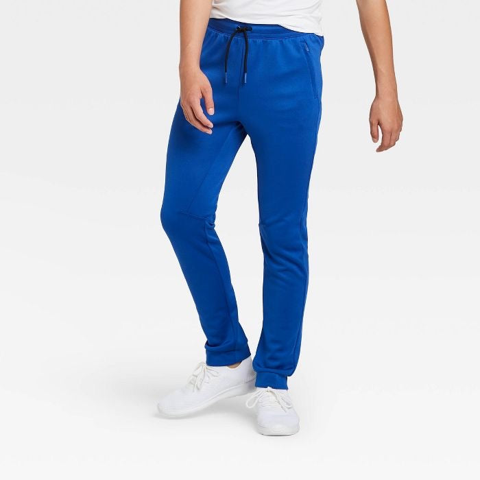 Kids' / Youth Athletic Performance Jogger Pants, Blue - Midtown Bargains