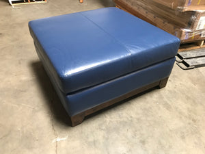 "Villa Cocktail Leather 38"" Ottoman/Coffee Table, Dream Iceberg - Midtown Bargains"