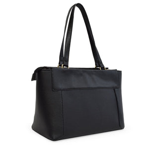 Adrienne Vittadini The Pebble Grain Tote, Charcoal - Midtown Bargains