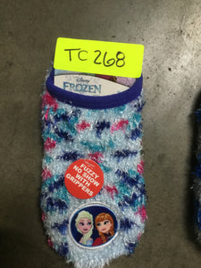 Toddler Girls' Slipper Socks With Grippers, Sizes 4-7 - Midtown Bargains