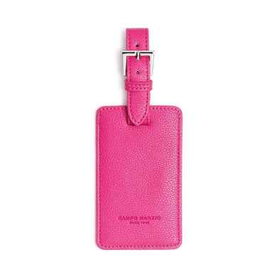 Campo Marzio Leather Luggage Tag, Pink - Midtown Bargains