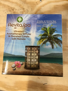 RevitaSpa Aromatherapy Oil Diffuser & Flameless Candle Bronze, - Midtown Bargains