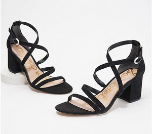Sam Edelman Leather Strappy Heeled Sandals , Stacie - Midtown Bargains