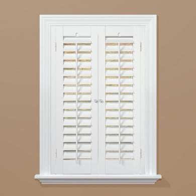"Clearance: 72% Off Plantation Faux Wood White Interior Shutter, 35""-37"" W x 24"" L *LOCAL PICKUP ONLY - Midtown Bargains"