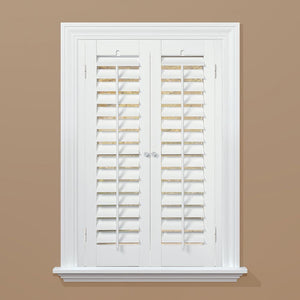 "Clearance: 72% Off Plantation Faux Wood White Interior Shutter, 35""-37"" W x 24"" L *LOCAL PICKUP ONLY"