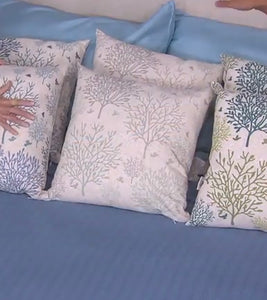 "Home by SHR Set of 2 18"" x 18"" Branch Pillows Grey, - Midtown Bargains"