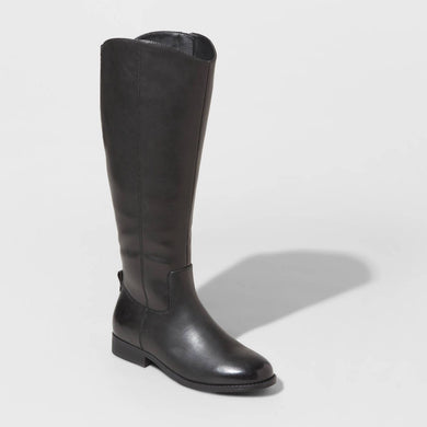 Women's Brisa Faux Leather Riding Boots, Size 10 - Midtown Bargains