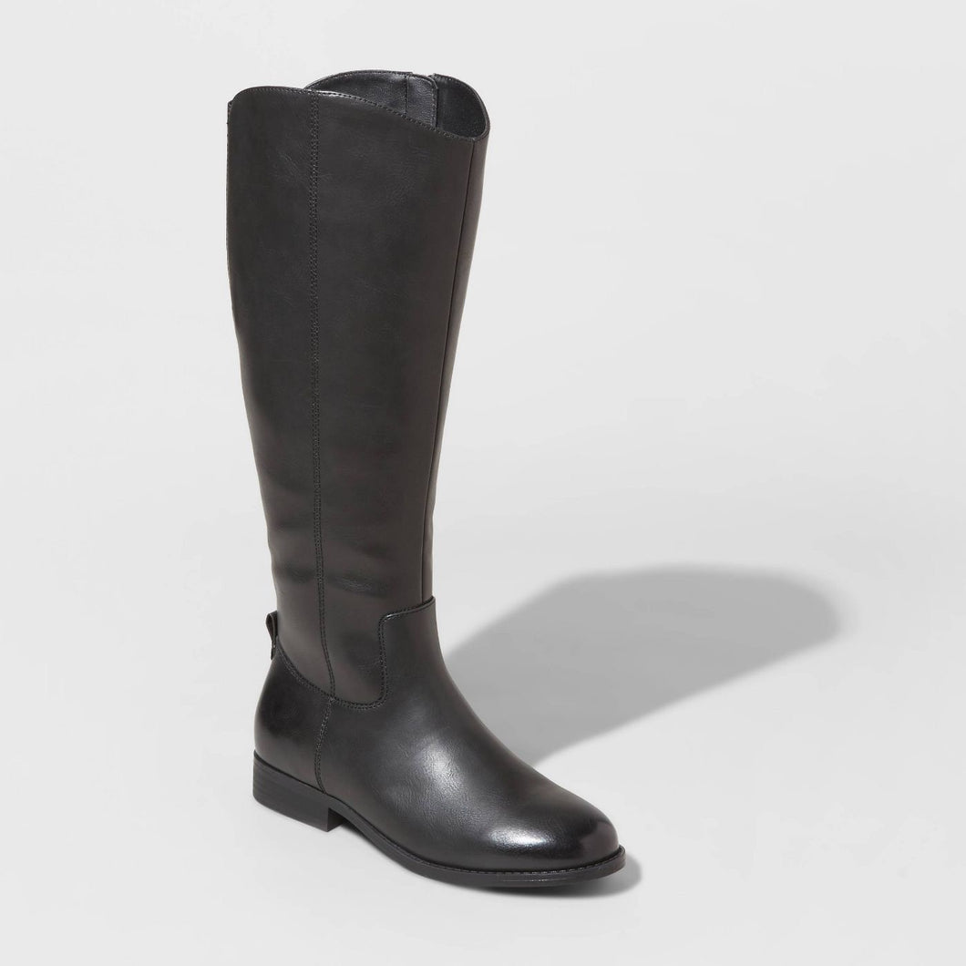 Women's Brisa Faux Leather Riding Boots, Size 10
