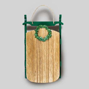 Wood Sled Christmas Decor