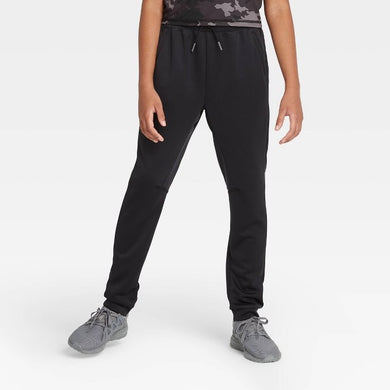 Kids' / Youth Athletic Performance Jogger Pants, Black - Midtown Bargains