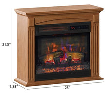 "Duraflame 24"" Wall Mantel Infrared Quart Fireplace Heater & Remote - Midtown Bargains"