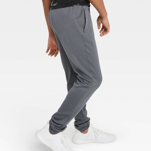 Kids' / Youth Athletic Performance Jogger Pants, Gray - Midtown Bargains