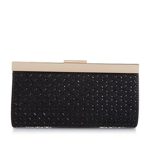 Clearance: 65% Off - La Regale Diamond-Shaped Mirrored Crystal Evening Clutch Purse