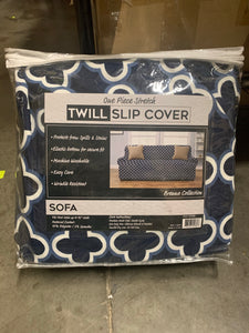Navy Twill Brenna Furniture Sofa Slipcover - Midtown Bargains
