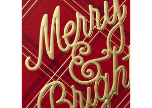 Hallmark 10ct Signature Standard Merry Bright Plaid Holiday Boxed Cards - Midtown Bargains