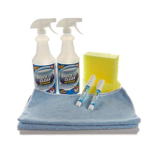 8-Piece Cleaning Tool Kit With Spray Bottles, Sponges, Cloths - Midtown Bargains