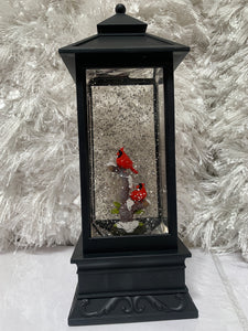 Illuminated Holiday Water Lantern with Timer by Lori Greiner Cardinal Scene - Midtown Bargains