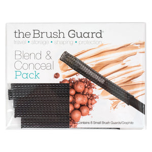 Makeup Brush Guard Protector Sleeves For Blend & Concealer Brushes, 8-Pack, Graphite, Small