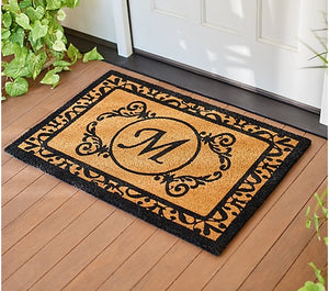 2' x 3' Outdoor Monogram Initial Coir Doormat With Initial