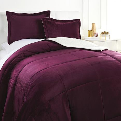 Soft & Cozy Plush Sherpa Comforter Set, King/Cal King *LOCAL PICKUP ONLY - Midtown Bargains