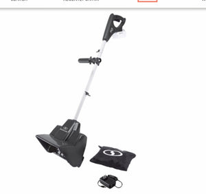 "Snow Joe 24V Cordless Rechargeable 11"" Snow Thrower & Cover *LOCAL PICKUP ONLY"