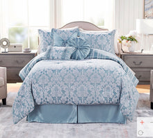 Clearance: 70% Off Northern Nights Jacquard Reversible 7-Piece King Comforter Set, Mocha - Midtown Bargains