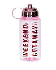 Pink Weekend Getaway Water Bottle - Midtown Bargains