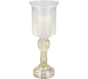 "Lightscapes Mercury Glass 17"" Hurricane with RGB Candle & Remote - Midtown Bargains"