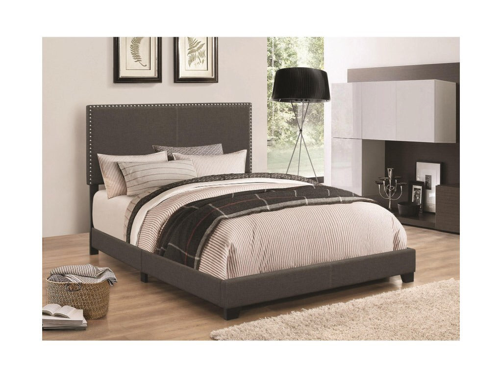 Upholstered Nailhead Bed, Twin