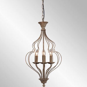 70% Off - Winona Rustic Antique Bronze 3-Light Chandelier