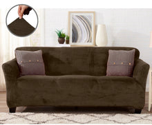 Slipcover For A Velvet Plush Form Fit Stretch Sofa