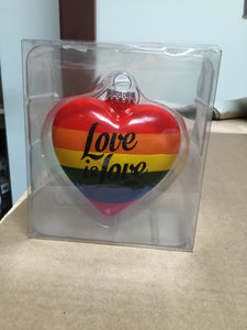 Pride - Love Is Love Ornament - Midtown Bargains