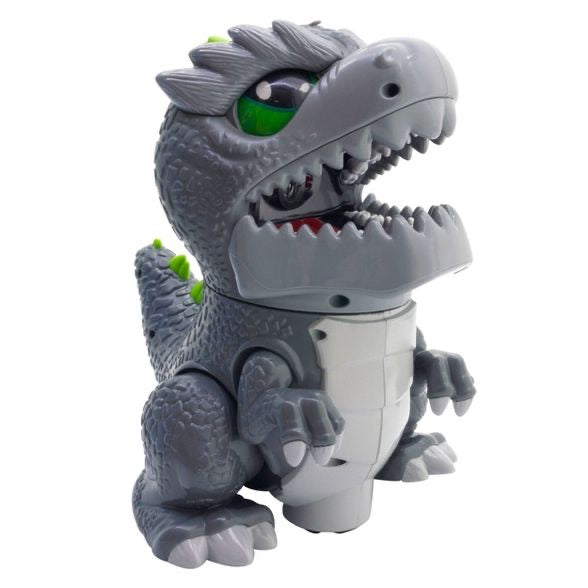 Kidztech RC Dinoz Dinosaur Toy With Lights, Sounds & Smoking Effect *Box Creased - Midtown Bargains