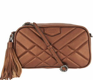 Aimee Kestenberg Pebble Leather Camera Crossbody Purse