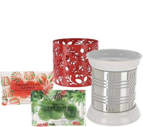 HomeWorx by Harry Slatkin Fragrance Warmer with 2 Sleeves and 12 Gelables - Midtown Bargains