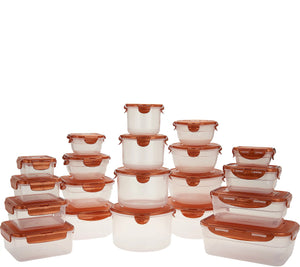 LocknLock 20-Piece Multishape Nestable Storage Set - Midtown Bargains