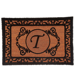2' x 3' Outdoor Monogram Initial Coir Doormat With B Initial - Midtown Bargains