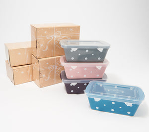 Temp-tations Set of 4 Mini Loaf Pans with Gift Boxes - Midtown Bargains