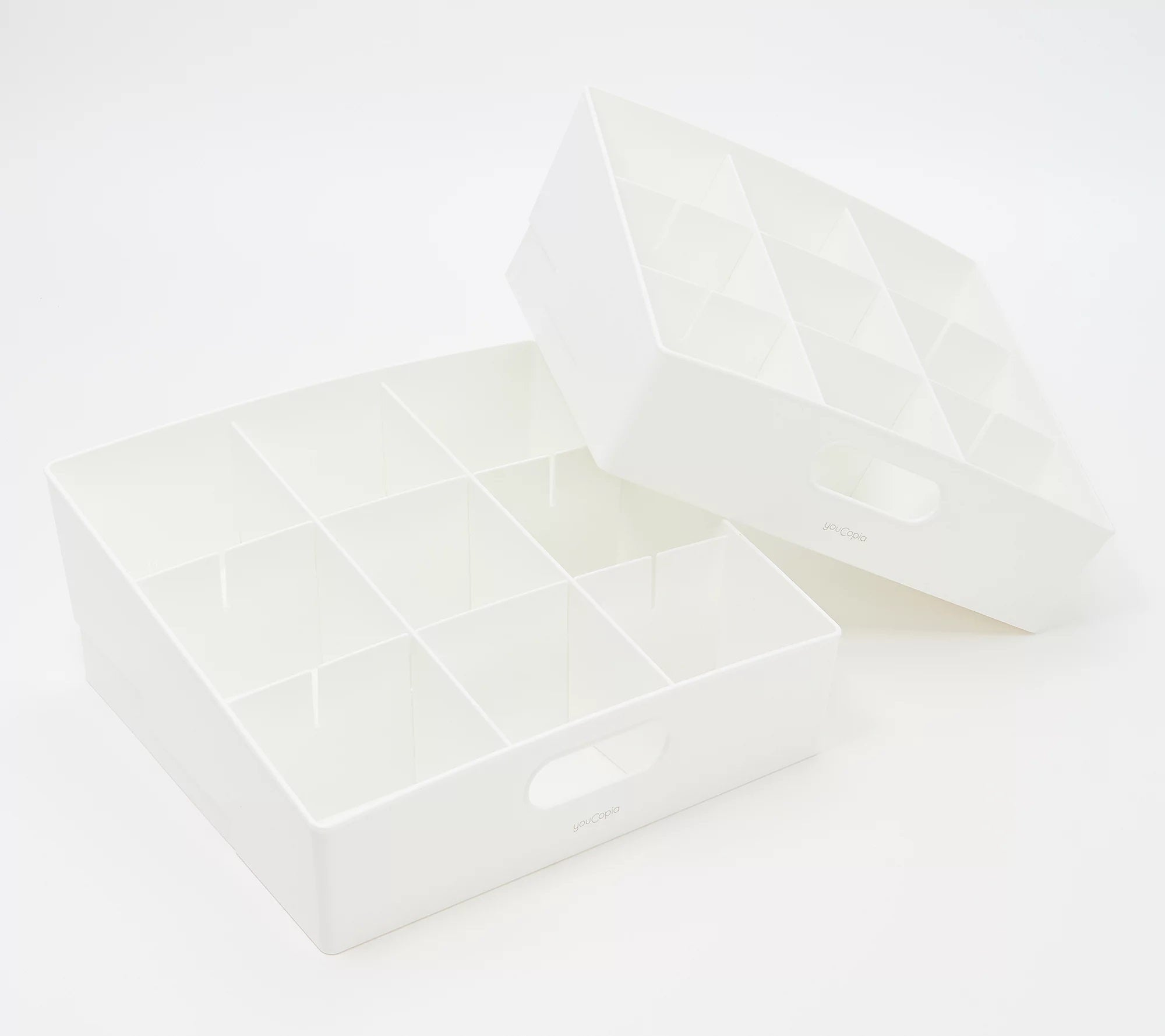 Youcopia 2-pc. Kitchen Storage Bins With Dividers White,
